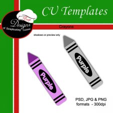 Crayon - CU TEMPLATE by Boop Designs
