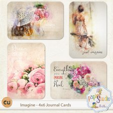 Imagine 4x6 Journal Cards EXCLUSIVE by Papierstudio Silke
