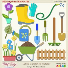 Spring Garden Layered Templates