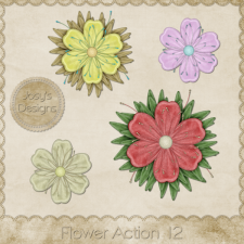 Flower Action 12 by Josy