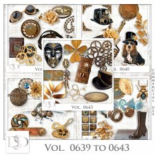 Vol. 0639 to 0643 Steampunk Mix by D's Design