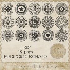 Crazy Circle Brushes 2 by Josy