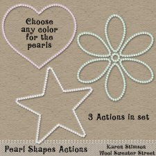 Pearl Shapes Action by Karen Stimson