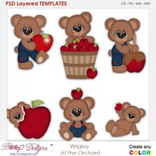 Wrigley Bear at the Orchard Layered Element Templates