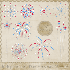 Independence Day Firework Layered Vector Templates by Josy