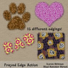 Frayed Edge Action by Karen Stimson