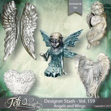 Designer Stash Vol 159 - Angels and Wings by Feli Designs