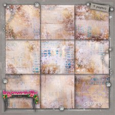 PAPERS Vol 102 painted winter EXCLUSIVE byMurielle