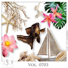 Vol. 0703 to 0707 Tropical Sea Mix by D's Design