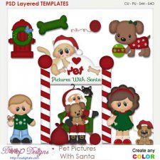 Pet Pictures With Santa Layered Element Templates