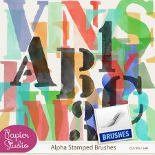 Alpha Stamp Brushes CU4CU by Papierstudio Silke