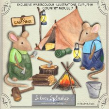 EXCLUSIVE Country Mouse 7 Watercolours by Silver Splashes