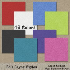 Felt Layer Styles by Karen Stimson