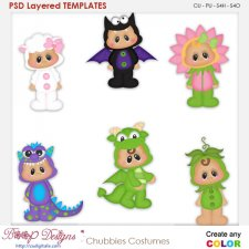 Chubbies Children in Costume Element Templates