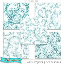 Classic Papers 5 Arabesques by kastagnette