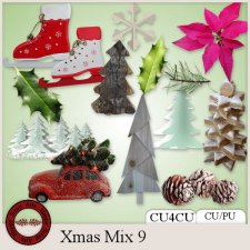 Xmas Mix 9 kit CU4CU by Happy Scrap Arts