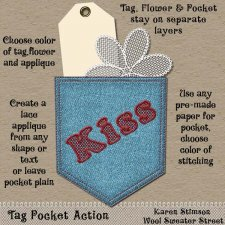 Tag Pocket Action by Karen Stimson