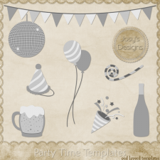 Party Time Layered PSD Templates by Josy