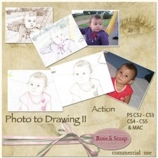 Action - Photo to Drawing II by Rose.li