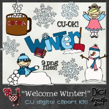 Welcome Winter - Winter themed - CU clipart