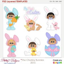 Chubbie Bunnies Layered Element Templates
