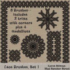 Lace Brushes, Set 1 by Karen Stimson
