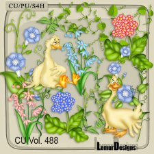 CU Vol 488 Summer Flowers by Lemur Designs