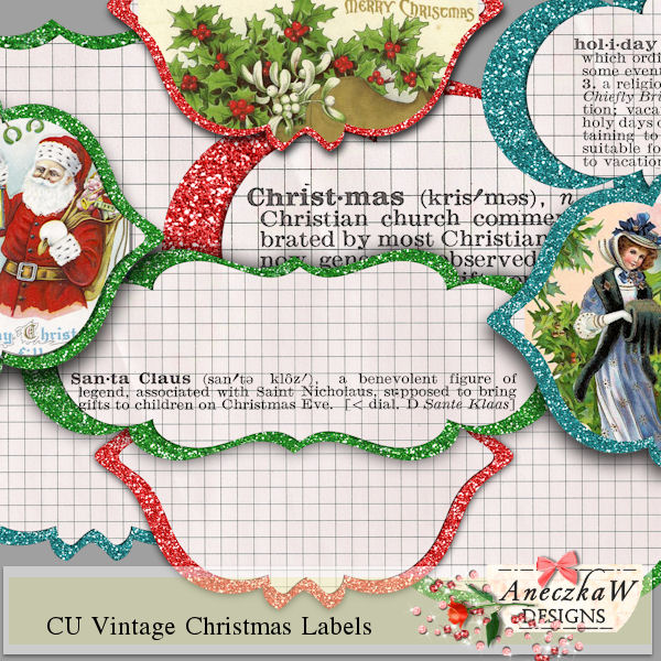 Vintage Christmas Labels by AneczkaW
