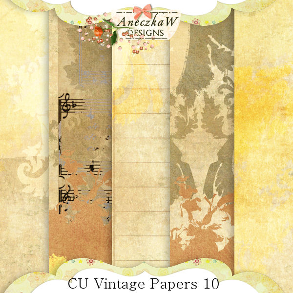 Vintage Papers 10 by AneczkaW