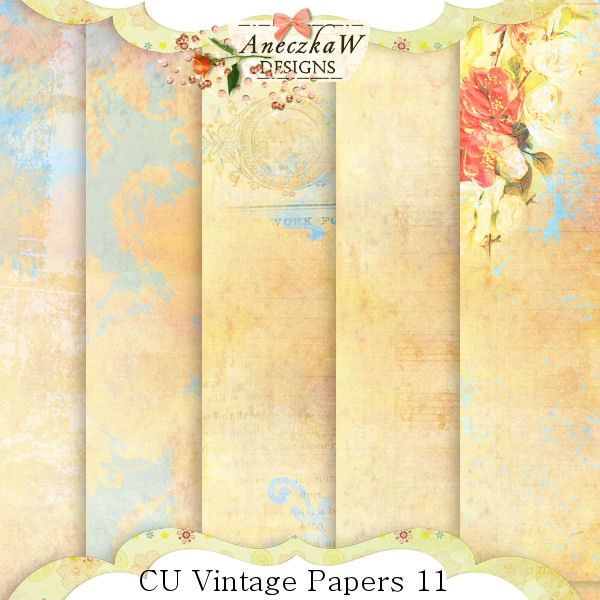 Vintage Papers 11 by AneczkaW