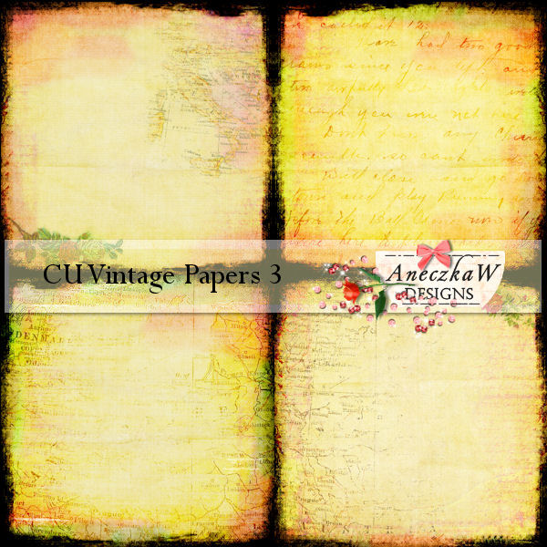 Vintage Papers 3 by AneczkaW