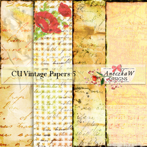 Vintage Papers 5 by AneczkaW