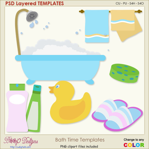 Bath Time Layered Templates