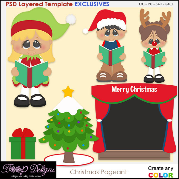 Christmas Pageant - EXCLUSIVE TEMPLATES