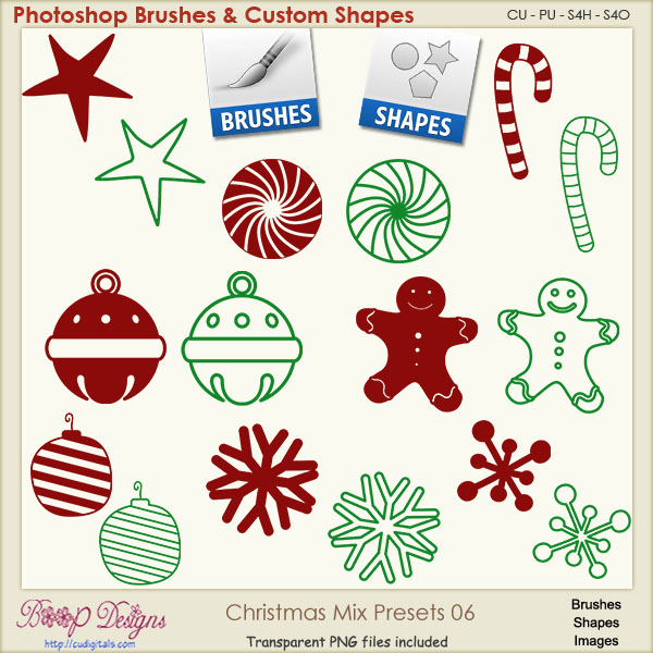 Christmas Brush & Shape PRESETS 06