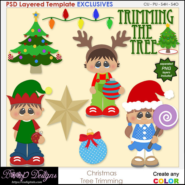 Christmas Tree Trimming - EXCLUSIVE TEMPLATES