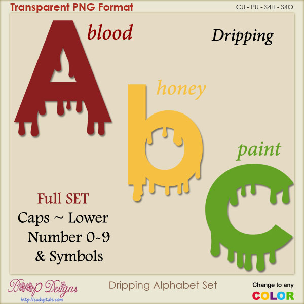 Dripping Alphabet Set