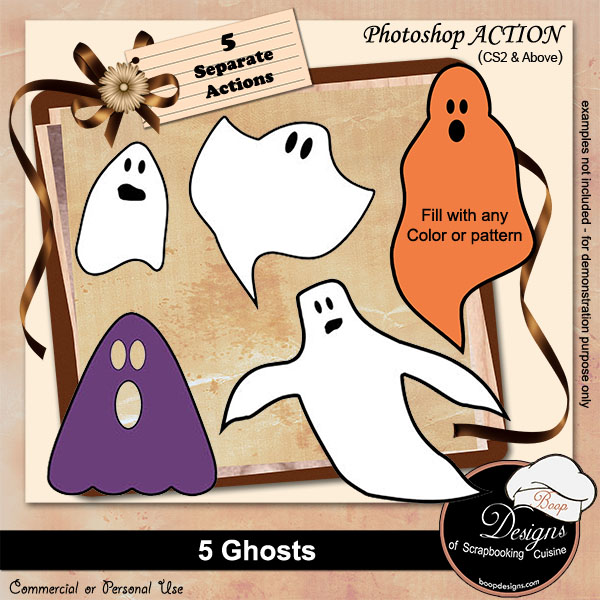 Ghosts ACTIONS by Boop Designs