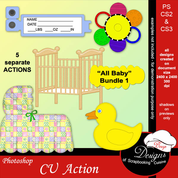All Baby BUNDLE ACTIONS 01 by Boop Designs