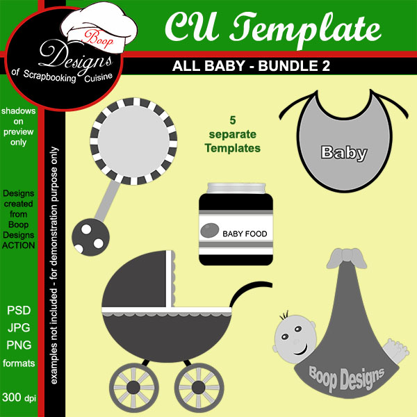 All Baby TEMPLATE BUNDLE 2 by Boop Designs