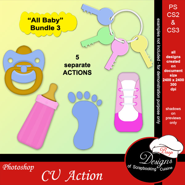All Baby BUNDLE ACTIONS 3 by Boop Designs