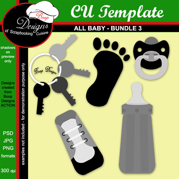 All Baby TEMPLATE BUNDLE 3 by Boop Designs