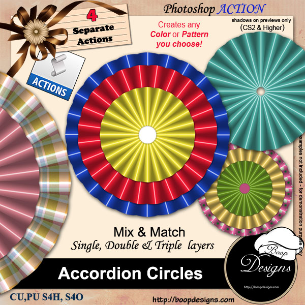 Accordion Circles ACTION by Boop Designs