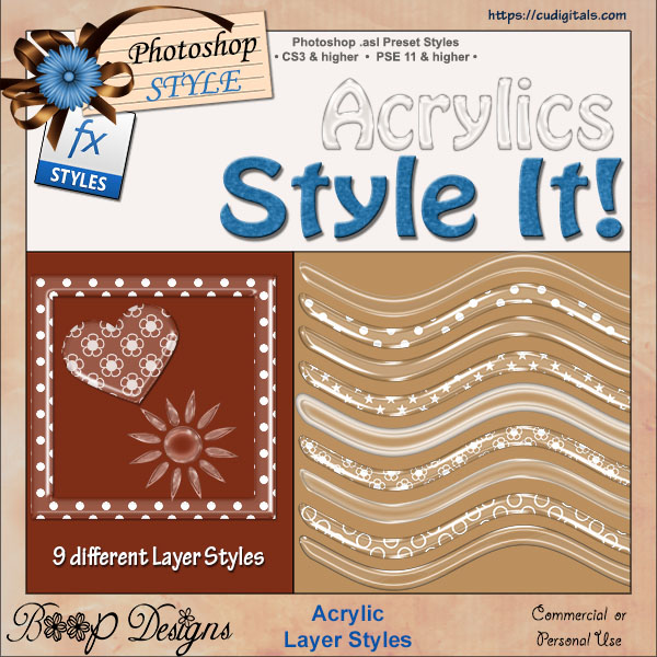 Acrylic Layer STYLES by Boop Designs