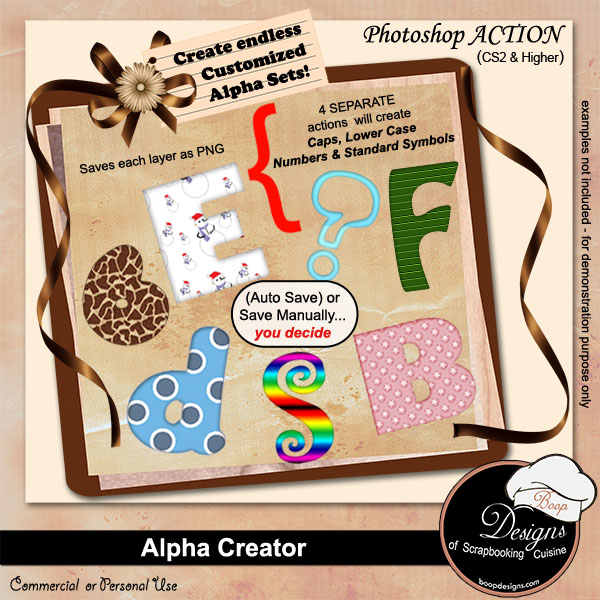 Alpha Creator PS ACTION by Boop Designs