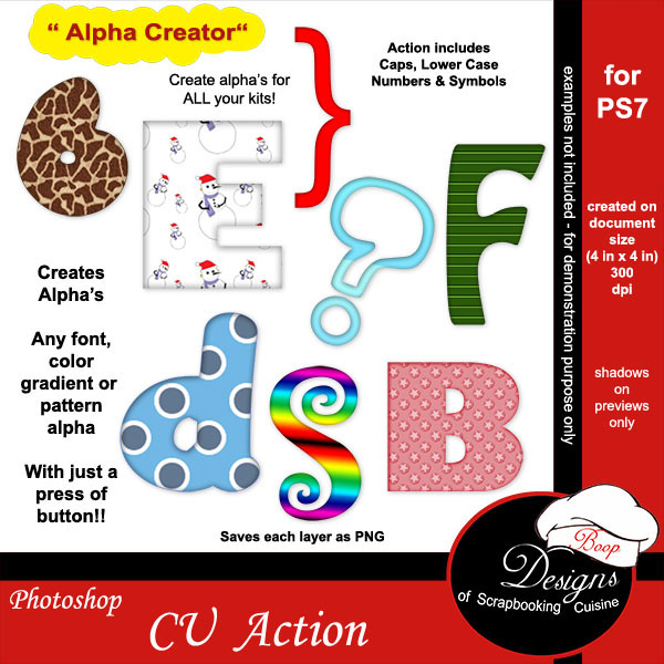 Alpha Creator for PS7 ACTION by Boop Designs