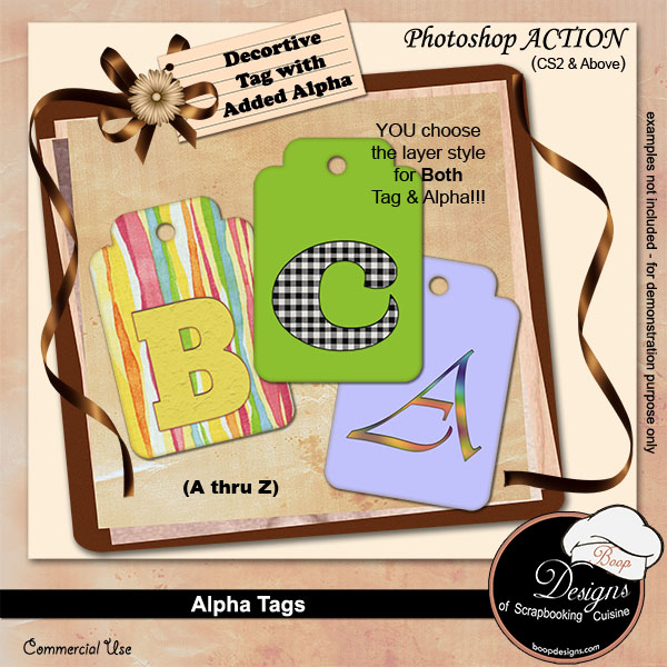Alpha Tags Creator ACTION by Boop Designs