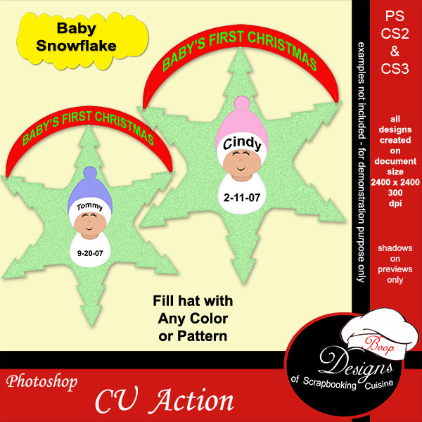 Baby Snowflake ACTION by Boop Designs