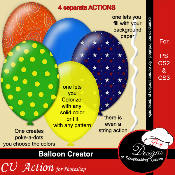Balloon Creator ACTION by Boop Designs