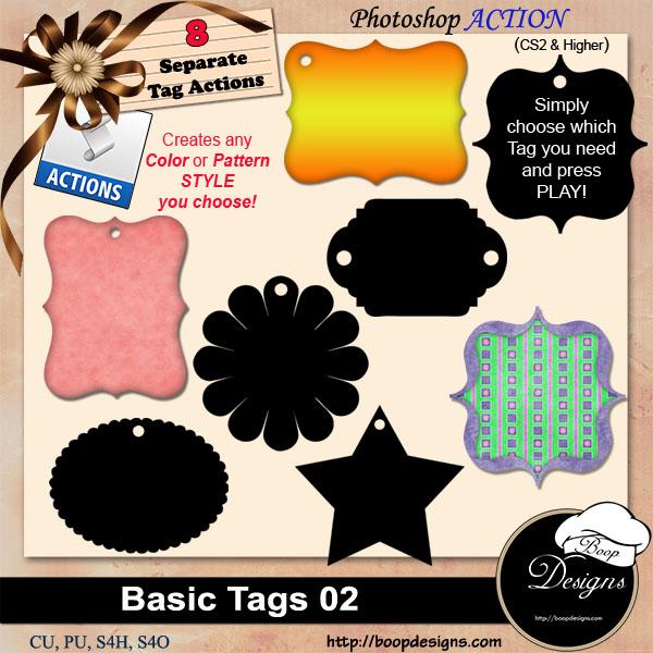 Basic Tags 02 ACTION by Boop Designs